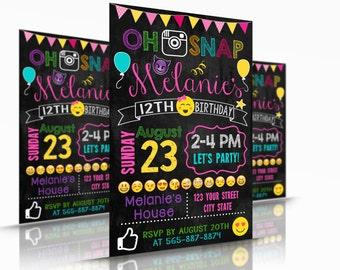 Printable Emoji Birthday Invitations (2016-18)