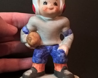 Vintage October Football Figurine