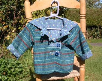 A delightful 'Between Seasons' Jacket for a young girl. Suitable for Autumn temperatures.