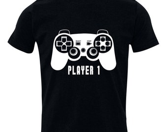 Player 1 tshirt for Father or child, Video Game t-shirt