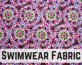 Kaleidoscope Print Swimwear Fabric! Perfect for a cool bikini! Sold by the 1/2 meter!
