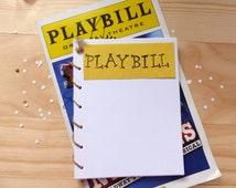 Broadway Playbill Notebook   Theatre Spiral Notebook Journal