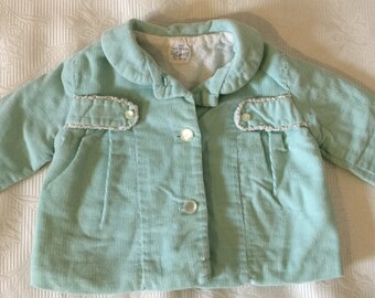 Vintage Baby Girl Clothes, Girl Coat, Corduroy Jacket