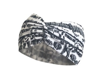 Wide Scrunch Headband - Yoga Headband, Boho Headband, Yoga Headwrap Turban Everyday Headband