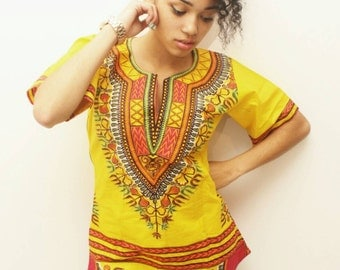 Top dashiki jaune