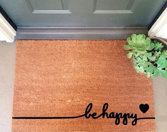 Be Happy Coir Doormat Coir Funny Doormat / Welcome Mat / Doormat
