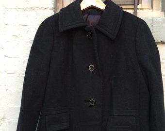 Wool Coat Vintage Black - Size M/L