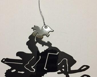 Snowmobiler ornament or Magnet