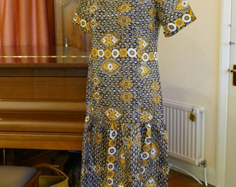 Delightful Dropped Waist Day Dress. 1920s Style.