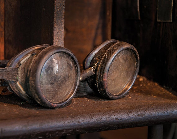 Foundry, Safety Goggles, Glasses, Wood Print, Abandoned, Rust, Wall Art, Pittsburgh, Pennsylvania, Industrial, Machine Shop