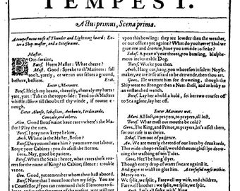 First Folio - First Pages