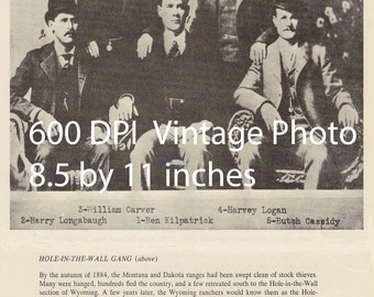 Download Western Clip Art 600 dpi Collage Scrapbook Butch Cassidy Hole in the Wall Gang The Wild Bunch Real Vintage Photo