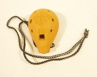 Handmade Folk Ocarina - Clay ocarina - 8 holes