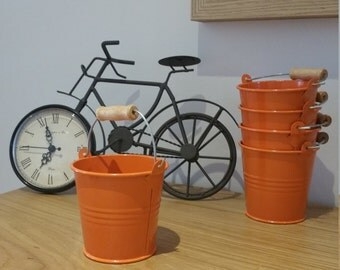 Mini Tin Bucket - Orange