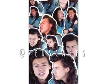 Harry Styles Denim Mixed Collage Case