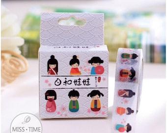 "Masking Tape ""Kimono Japanese girl"":"