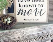Matthew 17:20, Hand Paint...