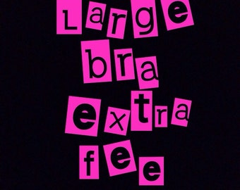 D-cup and up bras: Extra fee