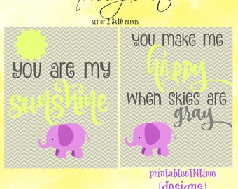 You are my sunshine nursery art- nursery decor- instant download