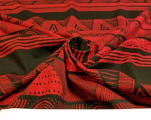 Red Tribal Cotton Modal Spandex