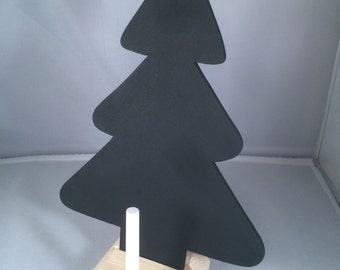Chalkboard christmas tree with stand and chalk