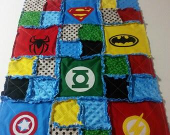 Super Hero Rag Quilt; Marvel Super Hero