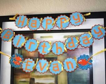 Fish Theme Birthday Banner