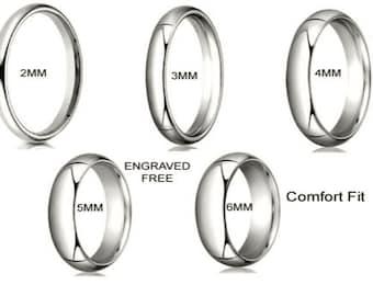 4MM Solid 10K White 100% Gold 4mm  Comfort Men Women Wedding Band Ring