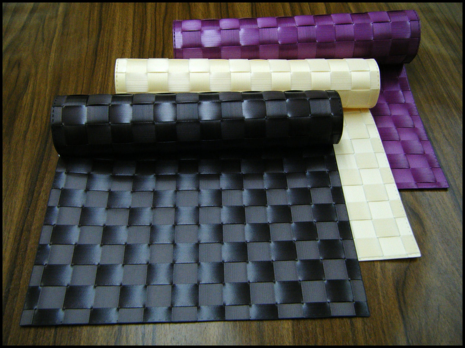 Table mats weaved placemats dining room pattern pad table for Table mats design your own