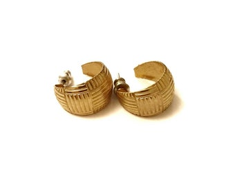 Gold Hoop Vintage Earrings