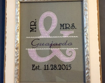 Mr. & Mrs. WALL HANGING - Wedding Gift, Anniversary Gift, Couples Gift