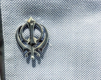 Khanda – Sikh cufflinks (one pair)