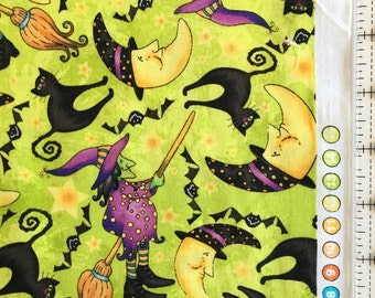 Witchy Poo halloween Fabric by the Yard-RJR Fabrics 1108