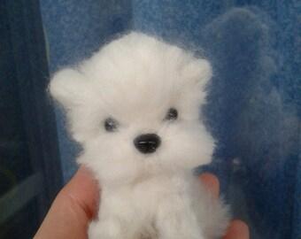 OOAK Needle felted Maltese Puppy/Dog