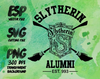 Slytherin Alumni Clipart , SVG Cutting , ESP Vectors files , T shirt , iron on , sticker ,Personal Use
