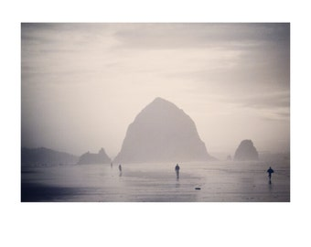 Cannon Beach Haystack Rock Picture Print on Photo Paper, Aluminum or Canvas
