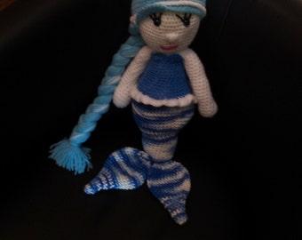 Mermaid Ocean multicolor crochet 50 cm