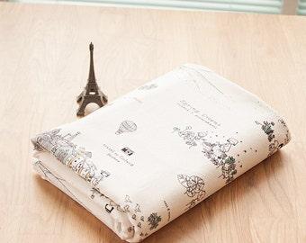 140cm / 55 inch Width, Utopia Tour Linen Cotton Fabric