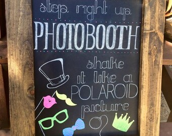 Photobooth Chalkboard