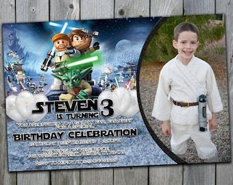 Lego Star Wars Invitation, Lego Star Wars Birthday Invitations, Lego Invitation, Lego Birthday Party Invitation, Lego Star Wars Invite, #169