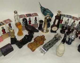 Large Lot of 29 Vintage Avon Men's Cologne Bottles