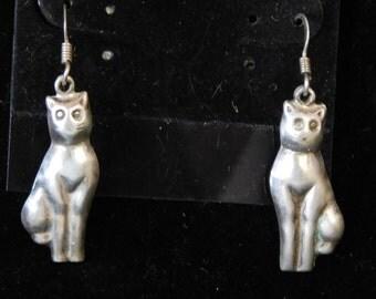 Sterling cat earrings