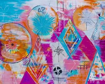 Acrylic Painting Canvas Art, Acrylic Painting, The Perfect Mystery, Acrylic Painting Original, Acrylic Painting On Canvas, Abstract Painting