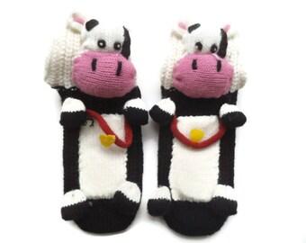 Socks for children, Kids socks with animal, anti skid socks, 3D socks, house slippers, socks with cow, play socks, unique socks