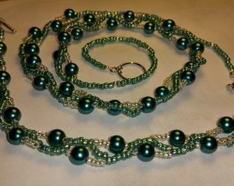 Wave Necklace & Bracelet Set