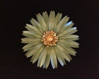 Vintage Metal Flower Pin Fashion Statement Costume Jewelry Accessory