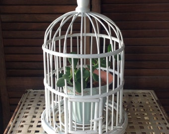 Beautiful Wood Bird Cage Hangable Decorative Accent Home Decor Cottage Chic FREE SHIPPING