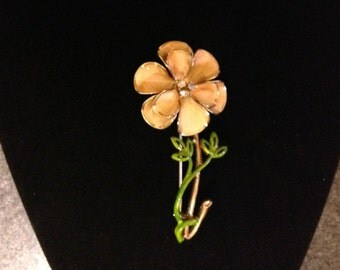 Flower Brooch Large Flower Pin Costume Jewelry FREE SHIPPING