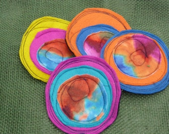 Crazy and Colorful Felt Coasters - Free Shipping!