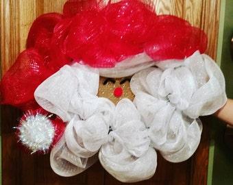 Santa Face Wreath! Ho Ho Holidays